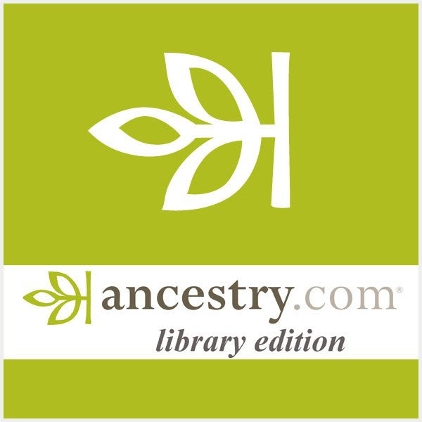 Ancestry Library Edition logo with green background and white three leaf pattern