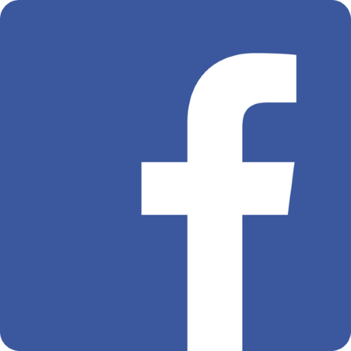 Facebook logo of white lowercase letter f on blue background