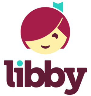 libby logo girl's face with purple libby letters