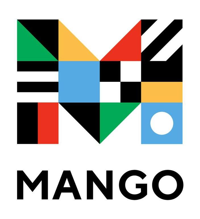 Mango logo with multicolored M