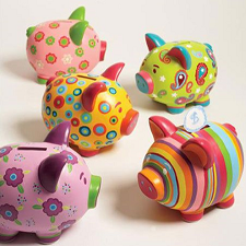 Piggy Bank Painting for Kids