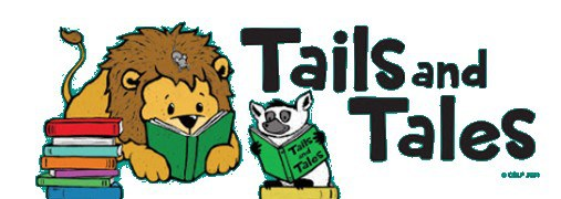 Tails and Tales logo featuring a lion