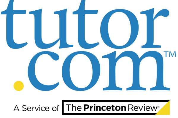 tutor.com logo with blue lower case letters